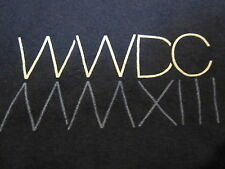 APPLE WWDC 2013 T-SHIRT Navy Blue MD Employee EUC Swift XCode iOS HomeSync Mac M