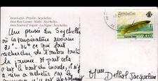 ANSE LAZIO (ILES SEYCHELLES / OCEAN INDIEN) Voyagée avec beau timbre en 2000