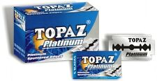 blades topaz 500 pc saloon professional razor men's shaving safety blades..