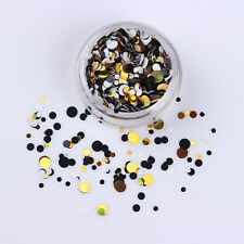 Nail Art Ultrathin Sequins Round Glitters Manicure Decoration Shiny Mixed #06