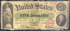 1862 $5 Legal Tender Note - New York - Rare