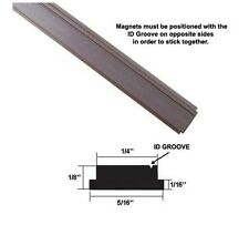 "Flexible Magnetic Strip Insert for Framed Shower Doors - 84"" long"