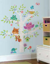 WOODLAND BABY BIRCH TREE wall stickers MURAL 27 decals fox owl Nursery decor