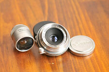 CANON Lens 28mm f/3.5  Wide Angle,  w/ Canon Viewfinder, LEICA M LTM Screw mount