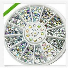 Nail Art Tips Glitter strass Rhinestones 3D Decoration ongles nagel wheel