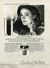 PUBLICITE ADVERTISING 064  1982  CHARLES OF THE RITZ  cosmétiques   REVENESCENCE
