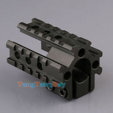 Tri-Rail Barrel Mount See Through 20mm Picatinny Weaver Rail For Scope Shotgun