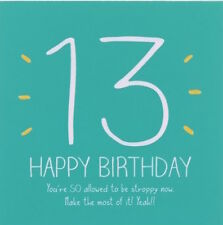 Happy Jackson Card: Happy Birthday 13 THIRTEEN- New In Cello