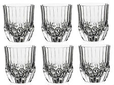 Whiskey Glasses Set of 6 Crystal Old Fashioned Tumbler Bourbon Scotch Drinks Cup