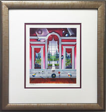 """FERJO """"The Red Room"""" New CUSTOM FRAMED Hand Signed Numbered lithograph ART Miro"""