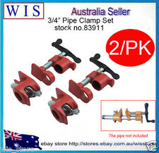 """GLUING PIPE CLAMP 3/4"""" 2 SETS - WOODWORKING VICE HAND TOOL-83911"""