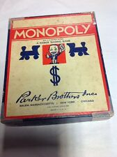 Vintage 1936 Original Monopoly Game Pieces Parker Brothers NO BOARD nice pieces