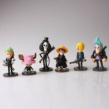 One Piece anime strong world 6pcs/set monkey d luffy chopper figure doll set