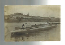 Mint WW 1 France Navy U Boat Submarine in Port Real picture Postcard