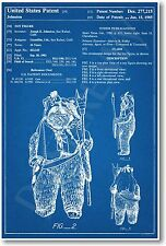Star Wars Paploo Ewok Patent - NEW Invention Patent Movie Art POSTER
