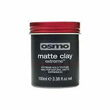 Osmo Matte Clay Extreme Hair Wax for Extreme Strong Hold 3.38 oz