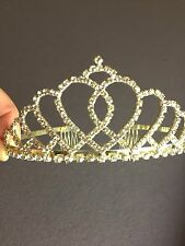Rhinestone Pageant Tiara Or Wedding Costume Quinceanera Elegant Design!!