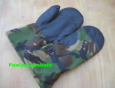MILITARY Surplus GORE-TEX Camouflage MITTENS, Mitts, Gloves - Sz 9 - Large