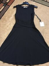 NWT Calvin Klein Classic Black Matte Jersey Cocktail Dress Casual Career, Size 2