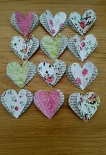 "12 3D Large Paper Hearts 2"" Book /Roses Scrapbooking / Cardmaking / Crafts."