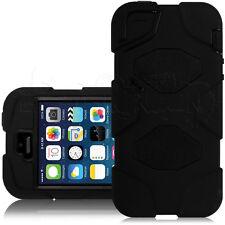 Schwarz Stoß Resistant Heavy Duty Überleben Gehäuse Hülle für the Apple iPhone 5