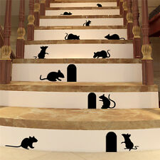 Black Rat Mice Mouse Wall Sticker DIY Decal Home Room Decor Removable Art Vinyl