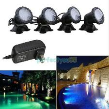 4pcs Colorful 36LED Outdoor Underwater Garden Fish Tank Pond Fountain Spot Light