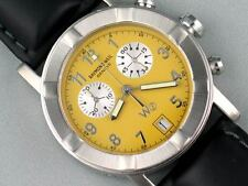 RAYMOND WEIL W1 CHRONOGRAPH STEEL YELLOW WATCH 6800 (WITHOUT BAND)