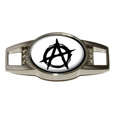 Anarchy Symbol Black - Shoe Sneaker Shoelace Charm Decoration