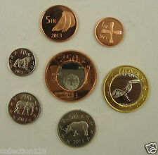 Katanga Coins Set of 7 Pieces 2013 UNC