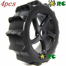 4pcs New RC 1/8 Paddles Tires with Hex 17mm Wheels Rims For Sand Snow buggy Car
