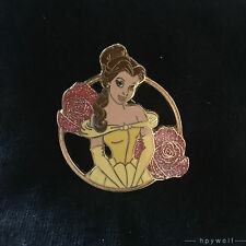 Japan Disney PRINCESS BELLE WITH GLITTER ROSES Beauty & the Beast Pin JDS