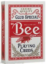 """""""Bee"""" Standard Red Deck Playing Cards Poker Size USPCC Casino Quality New Sealed"""
