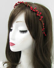 Red Brown Pip Berry Flower Hair Crown Headband Wreath Woodland Boho Vintage X05