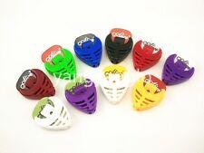 10pcs Colourful Heart Shape Guitar Pick Holder Case+Free 10pcs Guitar Picks