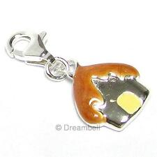 Sterling Silver Sweet House European Clip on Bead Charm