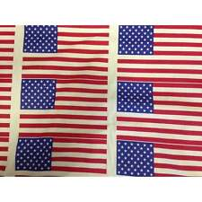 USA Stars and Stripes Fabric - American USA Flag Fabric - USA President Vote