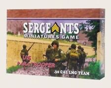US PARATROOPER 30 CAL LMG TEAM - SERGEANTS MINIATURES GAME WW2 20MM PRE PAINTED