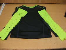 WRESTLING GREY SHIRT XS & NEON ARMBANDS W/ FREE JEFF HARDY PICTURE WWE