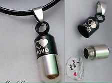 NEW Valentine's Day Lover Gift Heart Love Couple Pill Bottle Pendant Necklace