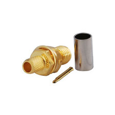 RP-SMA Female(male pin)Crimp connector for LMR195 RG58