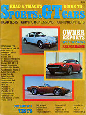 Road & Track's Guide To Sports & GT Cars 1970 EX 020916jhe