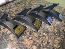 Lot of 4 star wars action fleet standard display base stand w gold & silver logo