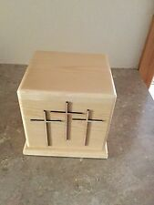 Solid Pine Box  Cremation Urn Adult USA