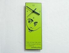 Dali Quote - Overdose of satisfaction - Wall Clock