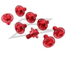 Zeta Red Fork Guard Bolt Kit for Honda 2004-16 CRF 250R 250X 450R 450X ZE88-9102