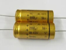 10 Stück - Elko 2200µF 16V axial ROE 16x38mm 105°C ROEDERSTEIN Capacitor 2200uF
