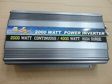 2000 Watt Power Inverter, 12V DC-220/240V AC in 50Hz w/Wireless Remote Control