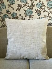 "LARGE 24""x24""CUSHION COVER CREAM/BEIGE WITH BROWN FLECK THICK QUALITY FABRIC"