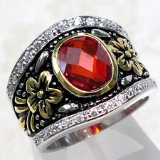 SPECIAL SALE BIN $19.99 LUXURIOUS 3 CT GARNET 925 STERLING SILVER RING SIZE 7
